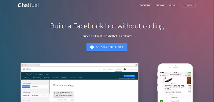 Chatfuel – AI Chatbot Builder for Facebook Messenger